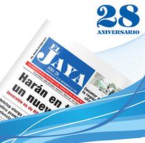 Social Media para 28 Aniv. Periodico El Jaya. A Illustration, and Graphic Design project by Jonathan Tiburcio Garcia         - 13.07.2014