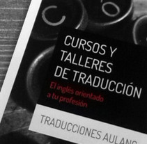 Traducciones Aulang, diptico. Un proyecto de Diseño editorial de Maialen Echaniz Olaizola - Viernes, 05 de julio de 2013 00:00:00 +0200