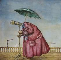 """""""El Efecto Lupa"""" El Niño Gusano. A Illustration project by Óscar  Sanmartín Vargas - 15-07-2014"""