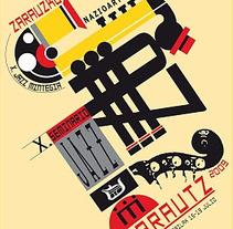 Cartel finalista Cartel Festival de Jazz . Un proyecto de Diseño gráfico de José Antonio  Serrada García         - 17.07.2014