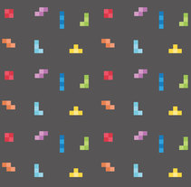 Tetris pattern. A Game Design, and Graphic Design project by Laura Liberal         - 27.07.2014