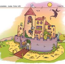 Restaurante La Ciudadela. Un proyecto de Diseño de personajes e Ilustración de Herbie Cans - Domingo, 01 de junio de 2014 00:00:00 +0200