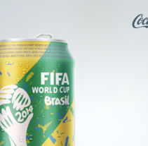 Concepto lata de Coca-Cola Mundial Brazil 2014 . Um projeto de Br, ing e Identidade, Design gráfico e Design de produtos de Xavier Boluda         - 06.08.2014