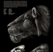 Extinct saber-thooted cat. Un proyecto de Diseño e Ilustración de Joana Araújo Bruno - 07.07.2013