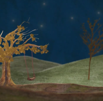 Un columpio en las estrellas (booktrailer). A Motion Graphics, Animation, and Multimedia project by Manuel Montes         - 08.07.2013