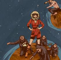 Venus en marte. A Illustration project by Francisco Crespo         - 15.03.2014