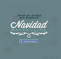 Navidad Maybelline. A Web Development project by Ana Pinedo García - 24-12-2013
