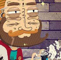 Santos y Manolo. Um projeto de Ilustração e Design de personagens de Maikol De Sousa         - 08.10.2014