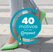 "Site ""40 motivos para usar compeed"" 2. A Advertising, Photograph, Art Direction, Graphic Design, and Web Design project by Carolina León Jiménez         - 19.09.2014"
