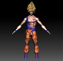 Goku Dragon Ball. A 3D project by José Antonio Palomares Santamaria - 05-11-2014