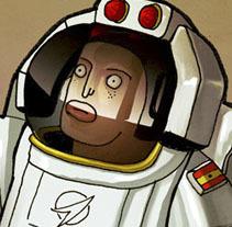 Man on Mars. A Illustration project by LOCANDIA Estudio  - Nov 09 2014 12:00 AM