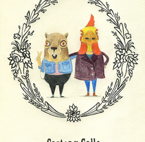 Castor y Gallo. A Illustration project by vanessa  santos - 18-11-2014