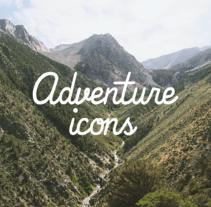 Adventure icons. A Illustration, and Graphic Design project by Como el buen vino          - 30.11.2014