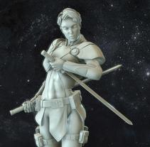 Bianca, Fallen Frontiers Hero. A 3D, Character Design, and Sculpture project by David  Fernández Barruz - 10-12-2014
