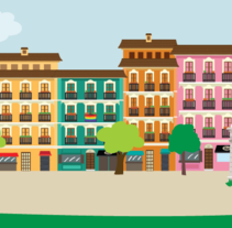 Madrid skyline. A Illustration project by Sandra  Martinez - 15-12-2014