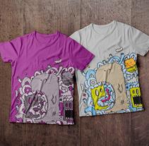 Ilustración de camisetas. Un proyecto de Diseño, Ilustración, Diseño de vestuario, Diseño editorial y Diseño de muebles de Isaac González         - 18.12.2014