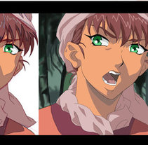 Anime snapshots representation / Representación de una captura de anime . A Fine Art project by Laura Portolés Moret - 25-01-2015