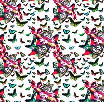 Mariposas/2/Pattern. Um projeto de Design, Ilustração, Design editorial, Moda, Design gráfico, Design de interiores e Packaging de Maria Pagola Domec         - 09.01.2015