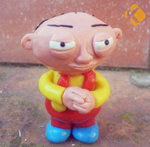 Stewie en plastilina. A Animation, Character Design, Crafts, Fine Art, and Comic project by Abel J. Fillat         - 13.01.2015
