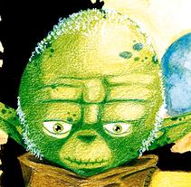 Yoda Master. A Illustration project by Jaime Lopez Boyero         - 14.01.2015