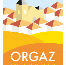 """Posters turísticos """"Orgaz en..."""". A Art Direction, and Graphic Design project by Honest artworks - 15-01-2015"""