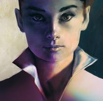 Audrey Hepbourn. Un proyecto de Ilustración de Jose Barrero - 20-02-2014