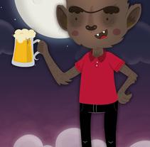 Awhoooooo Beer!!. Um projeto de Design, Ilustração, Direção de arte, Design de personagens, Design gráfico e História em quadrinhos de Ivy Nunes         - 20.01.2015