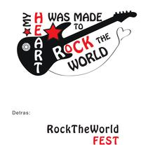 Diseño de camisetas - Rock The World Fest. A Illustration, Br, ing, Identit, Events, Fashion, Graphic Design, and Screen-printing project by Ana Almela Torras - 18-02-2014