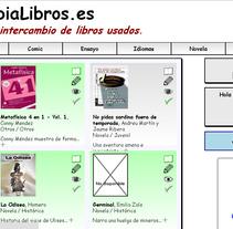 CambiaLibros.es - Comunidad de intercambio de libros de papel. Um projeto de Web design e Desenvolvimento Web de Moisés Alcocer - 19-02-2015