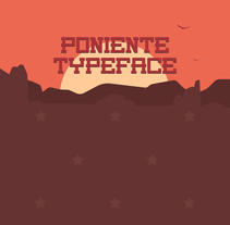 Poniente Typeface. A Graphic Design, T, and pograph project by Benito Ruiz García - 07-02-2015