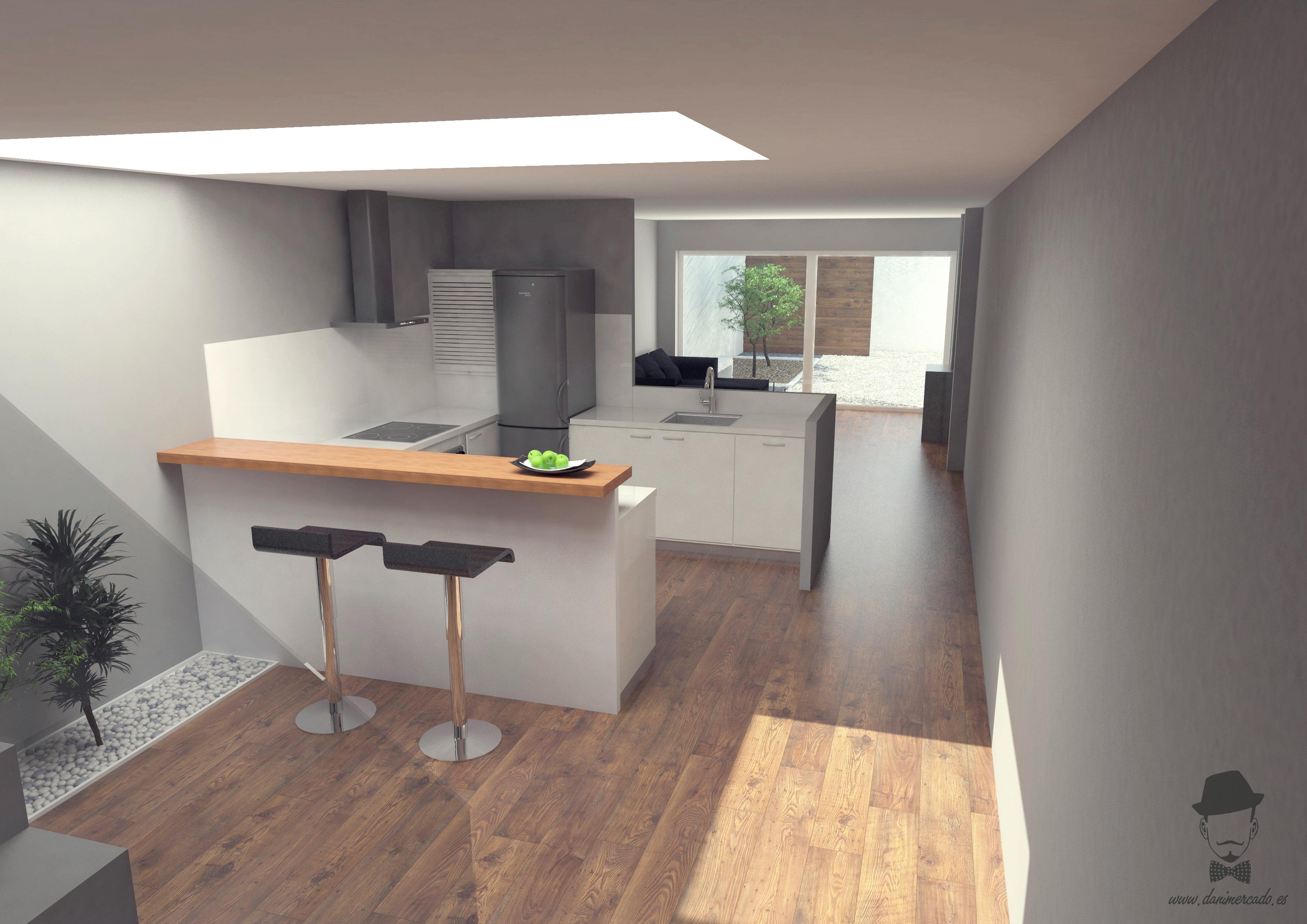 Render interior casa de sabadell domestika - Casa en sabadell centro ...