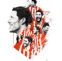 Atlético de Madrid 13-14. Un proyecto de Ilustración de Joaquín  Rodríguez - 15-04-2014