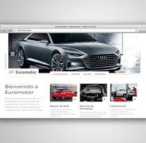AUDI EUROMOTOR. Um projeto de Web design e Desenvolvimento Web de Fiebre Creativa         - 24.03.2015