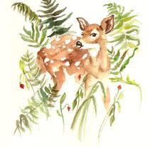 Oh! Deer!. Un proyecto de Ilustración, Bellas Artes y Pintura de Bea  Bendaña Bermejo - 29-03-2015