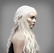 Fan Art. Daenerys. Um projeto de Ilustração e Design gráfico de Elena Pérez Revillas - 04-04-2015