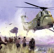 The LZ (The landing zone). Un proyecto de Ilustración de Jose Angel Trancón Fernández - 11-04-2015