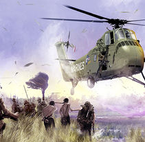 The LZ (The landing zone). A Illustration project by Jose Angel Trancón Fernández         - 11.04.2015