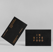 Insite food. A Br, ing, Identit, Editorial Design, Graphic Design, T, and pograph project by Xavi Martínez Robles - 05.07.2015