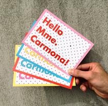 Mme. Carmona. A Graphic Design project by sonia eixea - 26-04-2013