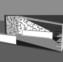 Proyecto de un stand publicitario. A Design, 3D, Architecture, and Art Direction project by Andrea Peña         - 17.09.2014