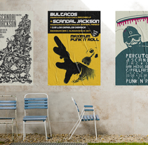 Gig posters para Scandal Jackson, grupo punck-rock. A Graphic Design project by Uri          - 24.11.2016