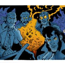 """Ilustración para """"En compañía de sombras"""", relato de la revista Ánima Barda (Ed. Pulpture). Un proyecto de Ilustración de Alberto Peral Alcón         - 31.05.2015"""