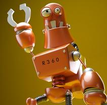 """Model 3D  robot """"R360"""". Um projeto de 3D e Animação de Gerard Martínez Sánchez         - 09.02.2015"""