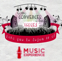 Coca-cola Music Experience - Cómo convencer a tus padres. A Illustration, and Motion Graphics project by Candida Bevilacqua         - 04.11.2014