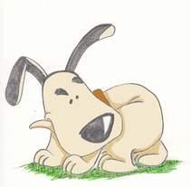 Perro técnica mixta. Un proyecto de Ilustración de montse.mazorriaga         - 13.06.2015