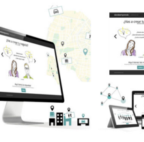 LANDING PAGE DONDEEMPRENDO (Concurso para BBVA)Nuevo proyecto. A Web Design project by Esther Martínez Recuero - 31-05-2014