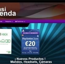 CasiTienda. Um projeto de Design gráfico, Web design e Desenvolvimento Web de Laura Solanes         - 26.06.2015