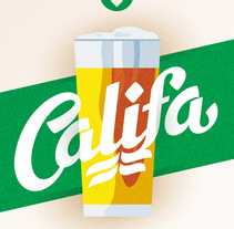 Cervezas Califa. Lettering y Rótulos. A Br, ing, Identit, Graphic Design, T, and pograph project by Juanjo López - Jul 03 2015 12:00 AM