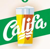 Cervezas Califa. Lettering y Rótulos. Un proyecto de Br, ing e Identidad, Diseño gráfico y Tipografía de Juanjo López - Viernes, 03 de julio de 2015 00:00:00 +0200