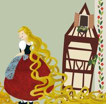 Diseño de personaje: Rapunzel. Un proyecto de Ilustración y Diseño de personajes de Paula Hurtado Arenas         - 01.10.2014